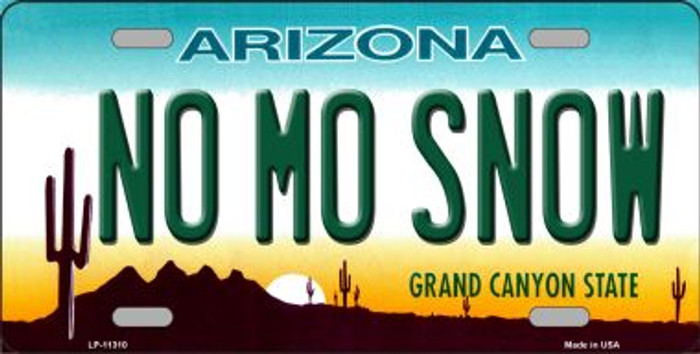 No Mo Snow Novelty Wholesale License Plate