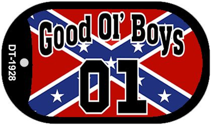 Good Ol' Boys Confederate Flag Dog Tag Kit Wholesale Novelty Necklace DT-1928