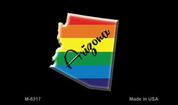 Arizona State Outline Rainbow Wholesale Magnet
