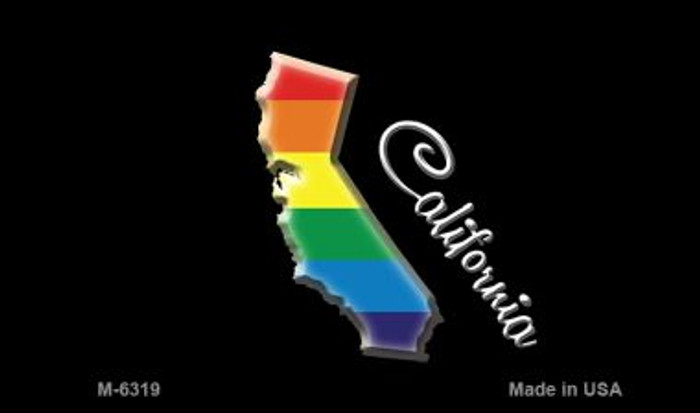 California State Outline Rainbow Wholesale Magnet