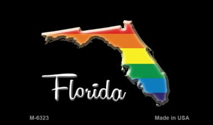 Florida State Outline Rainbow Wholesale Magnet