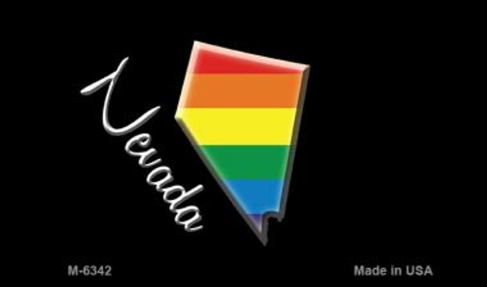 Nevada State Outline Rainbow Wholesale Magnet