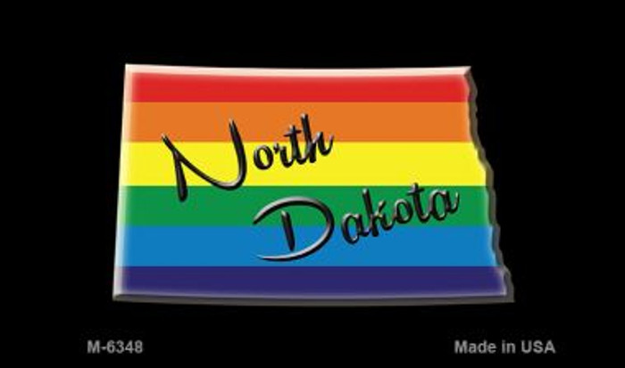 North Dakota State Outline Rainbow Wholesale Magnet