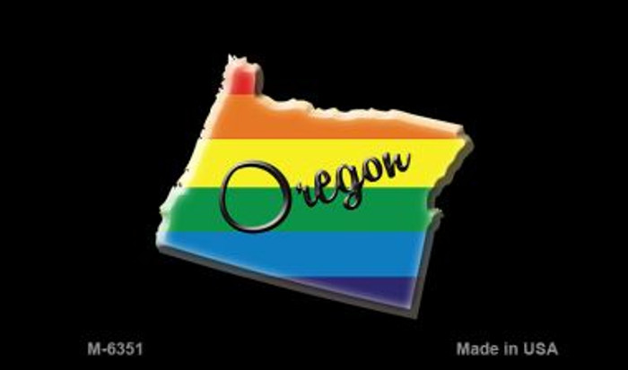 Oregon State Outline Rainbow Wholesale Magnet