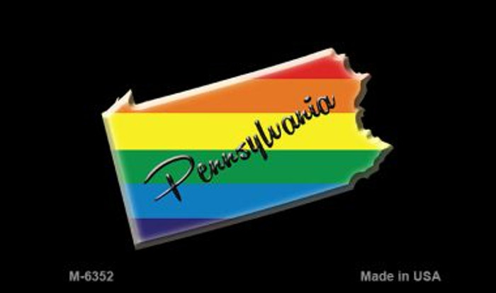 Pennsylvania State Outline Rainbow Wholesale Magnet