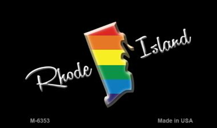 Rhode Island State Outline Rainbow Wholesale Magnet