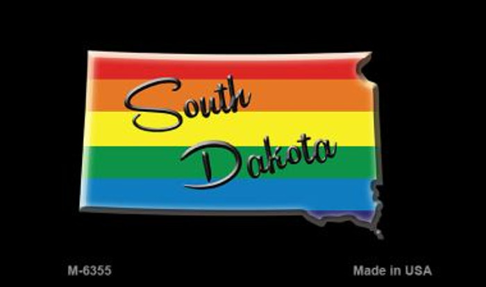 South Dakota State Outline Rainbow Wholesale Magnet