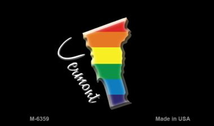 Vermont State Outline Rainbow Wholesale Magnet