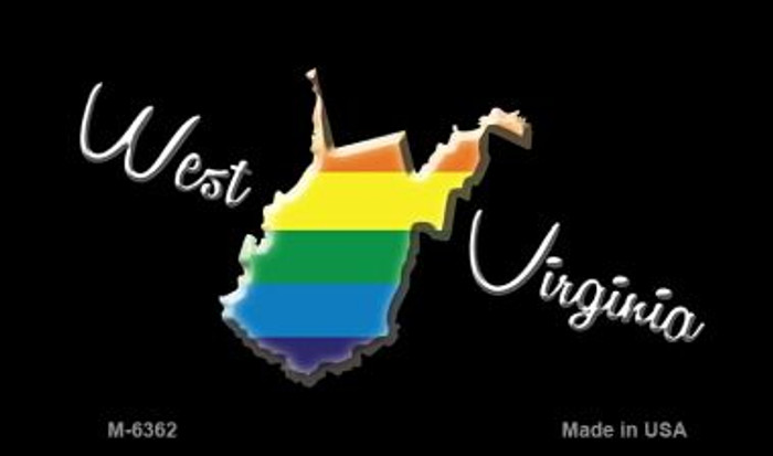 West Virginia State Outline Rainbow Wholesale Magnet