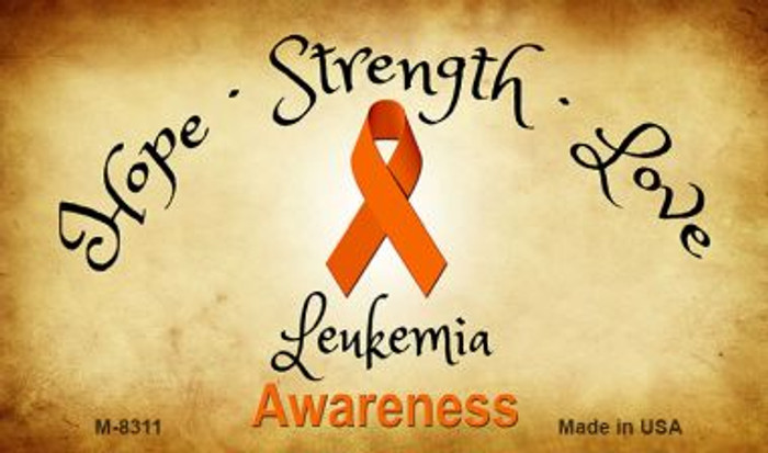 Leukemia Cancer Ribbon Wholesale Novelty Magnet M-8311
