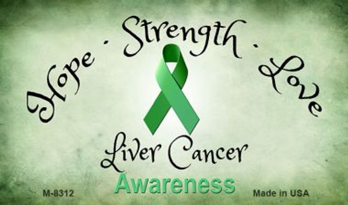 Liver Cancer Ribbon Wholesale Novelty Magnet M-8312