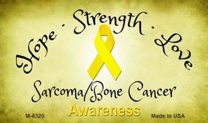 Sarcoma / Bone Cancer Ribbon Wholesale Novelty Magnet M-8320