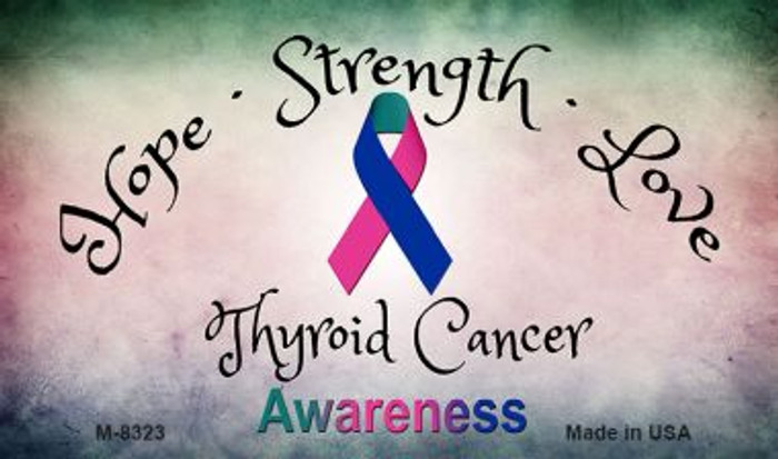 Thyroid Cancer Ribbon Wholesale Novelty Magnet M-8323