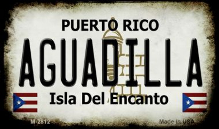 Aguadilla Puerto Rico State License Plate Wholesale Magnet