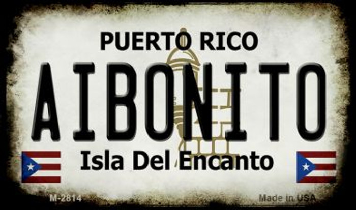 Aibonito Puerto Rico State License Plate Wholesale Magnet