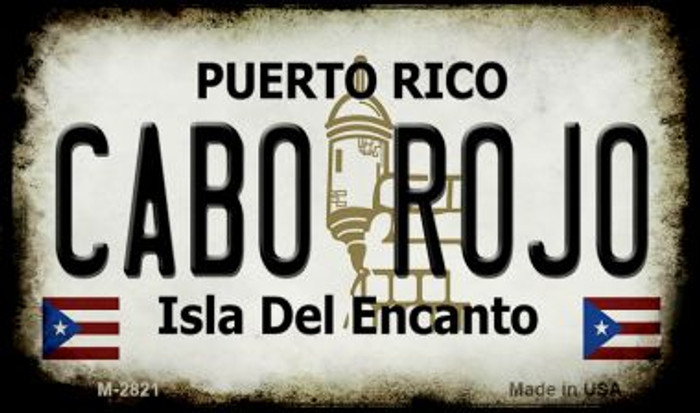 Cabo Rojo Puerto Rico State License Plate Wholesale Magnet