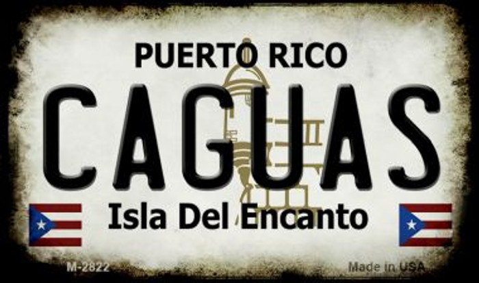 Caguas Puerto Rico State License Plate Wholesale Magnet
