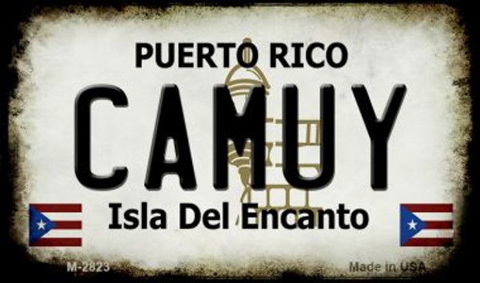 Camuy Puerto Rico State License Plate Wholesale Magnet