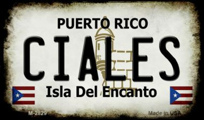 Ciales Puerto Rico State License Plate Wholesale Magnet