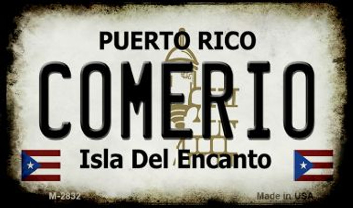 Comerio Puerto Rico State License Plate Wholesale Magnet
