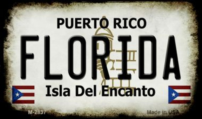 Florida Puerto Rico State License Plate Wholesale Magnet