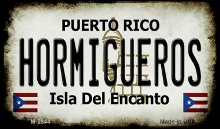 Hormigueros Puerto Rico State License Plate Wholesale Magnet