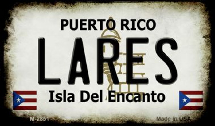 Lares Puerto Rico State License Plate Wholesale Magnet