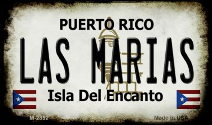 Las Marias Puerto Rico State License Plate Wholesale Magnet