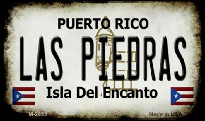 Las Piedras Puerto Rico State License Plate Wholesale Magnet
