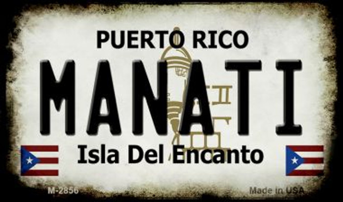 Manati Puerto Rico State License Plate Wholesale Magnet