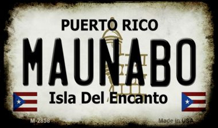 Maunabo Puerto Rico State License Plate Wholesale Magnet