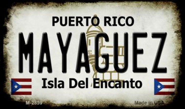 Mayaguez Puerto Rico State License Plate Wholesale Magnet