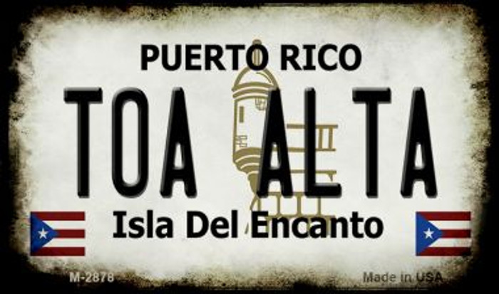 Toa Alta Puerto Rico State License Plate Wholesale Magnet M-2878