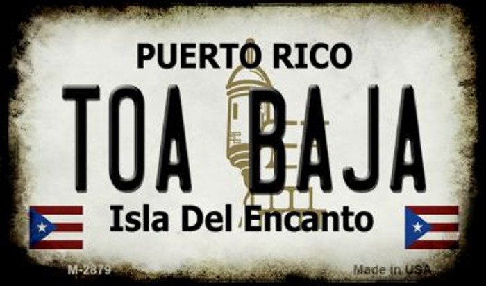 Toa Baja Puerto Rico State License Plate Wholesale Magnet M-2879