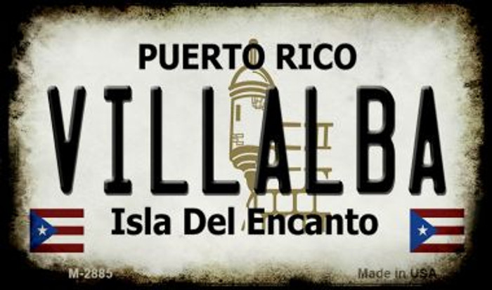 Villalba Puerto Rico State License Plate Wholesale Magnet M-2885