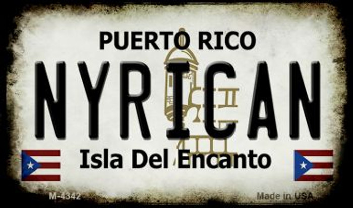 Nyrican Puerto Rico State License Plate Wholesale Magnet
