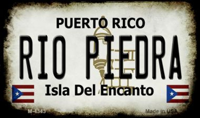 Rio Piedra Puerto Rico State License Plate Wholesale Magnet