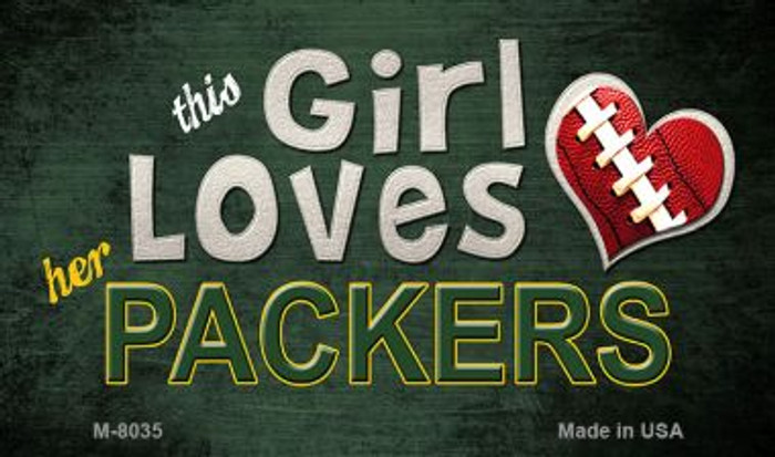 This Girl Loves Her Packers Wholesale Magnet M-8035