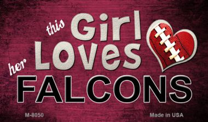 This Girl Loves Her Falcons Wholesale Magnet M-8050