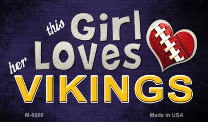 This Girl Loves Her Vikings Wholesale Magnet M-8060