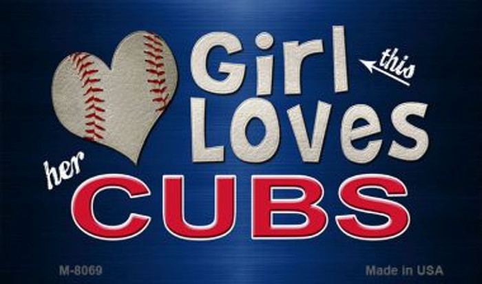 This Girl Loves Her Cubs Wholesale Magnet M-8069
