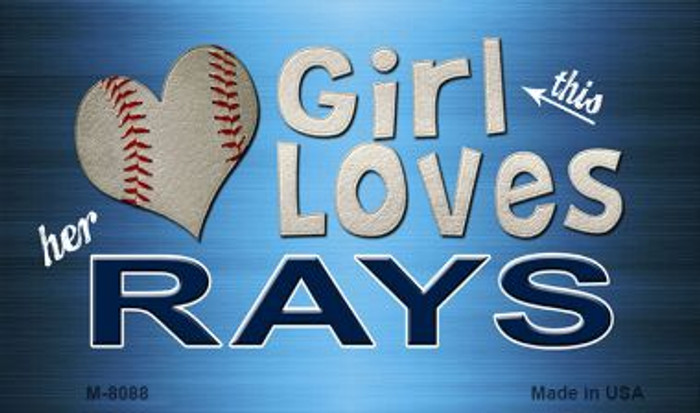 This Girl Loves Her Rays Wholesale Magnet M-8088