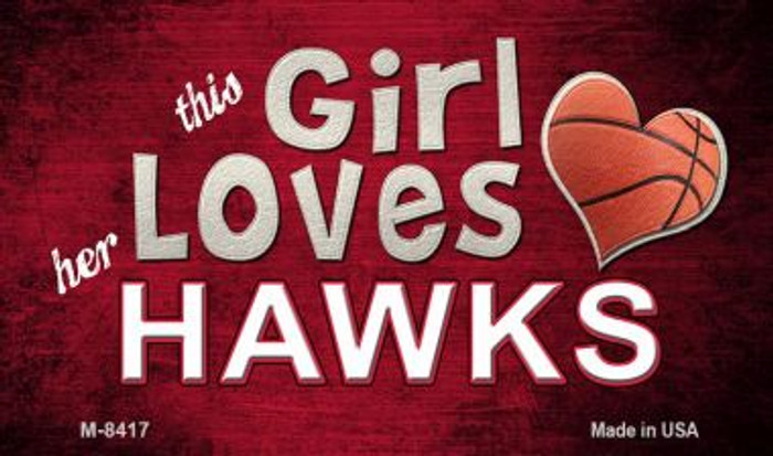 This Girl Loves Her Hawks Wholesale Magnet M-8417