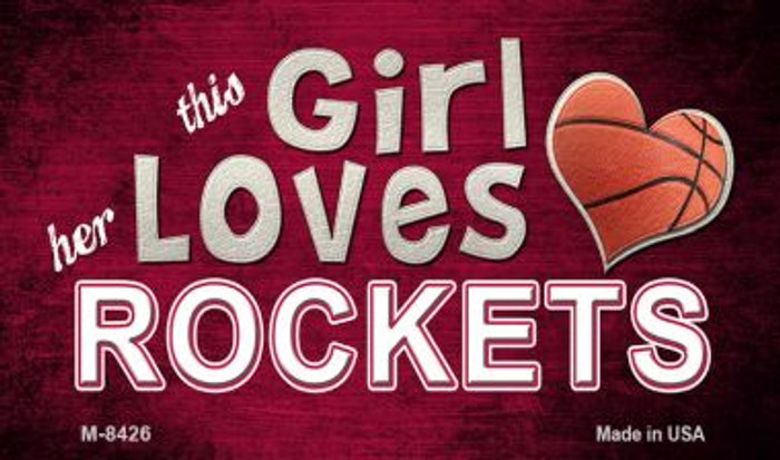 This Girl Loves Her Rockets Wholesale Magnet M-8426