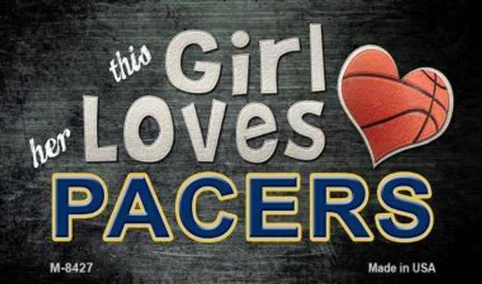 This Girl Loves Her Pacers Wholesale Magnet M-8427