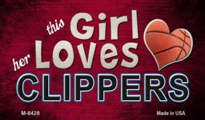 This Girl Loves Her Clippers Wholesale Magnet M-8428