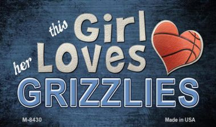 This Girl Loves Her Grizzlies Wholesale Magnet M-8430