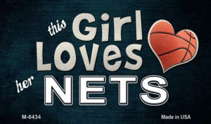 This Girl Loves Her Nets Wholesale Magnet M-8434