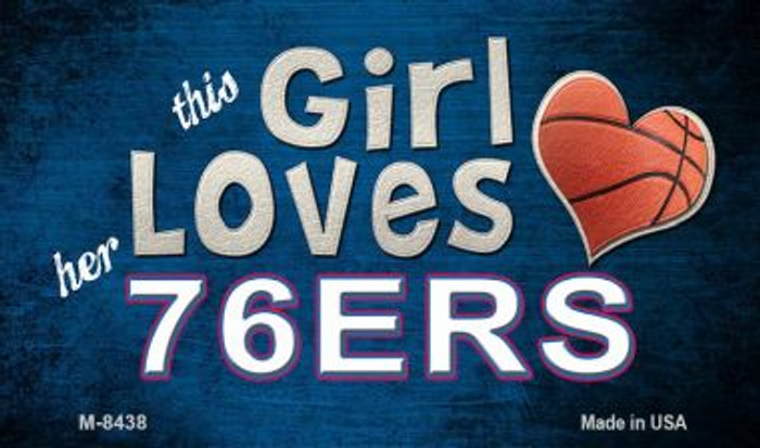 This Girl Loves Her 76ers Wholesale Magnet M-8438
