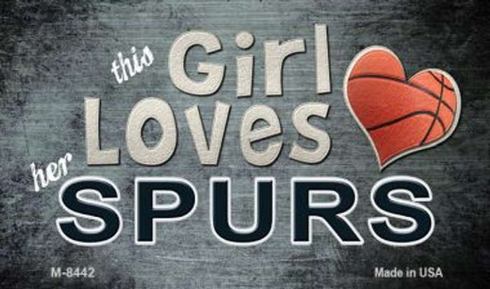 This Girl Loves Her Spurs Wholesale Magnet M-8442
